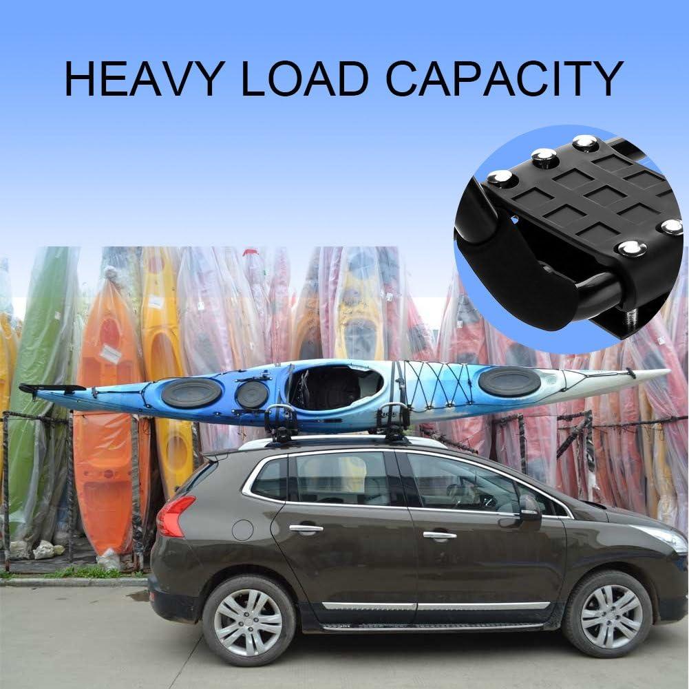 soporte para canoa para transporte de coche accesorio de carga y ayuda soporte resistente universal Barras Jayak 1 par portaequipajes de techo