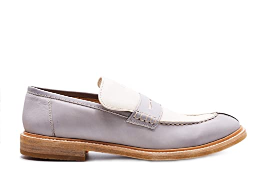 21d1c64e93a Image Unavailable. Image not available for. Color  Brunello Cucinelli Womens  Beige Leather Two-Toned Loafers Shoes