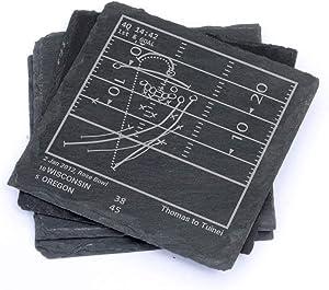 Greatest Oregon Football Plays - Slate Coasters (Set of 4)