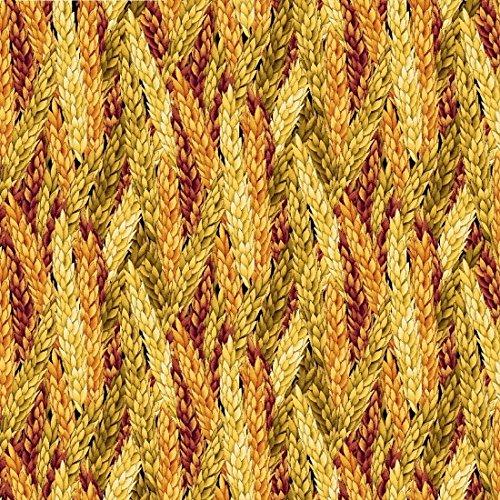 Harvest Green Fabric (Fall Fabric - Harvest Gathering Beige Orange Green Wheat Pack - Henry Glass YARD)