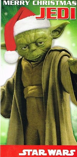 star wars yoda merry christmas jedi money wallet card - Merry Christmas Star Wars