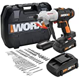 WORX WX176L.1 Switchdriver 2-in-1 Cordless Drill and Driver with Rotating Dual Chucks and 2-Speed Motor with Precise Electron
