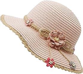 b7b8b36e7 Bienvenu Little Girl Kids Summer Straw Hat Wide Brim Floppy Beach Sun Visor  Hat
