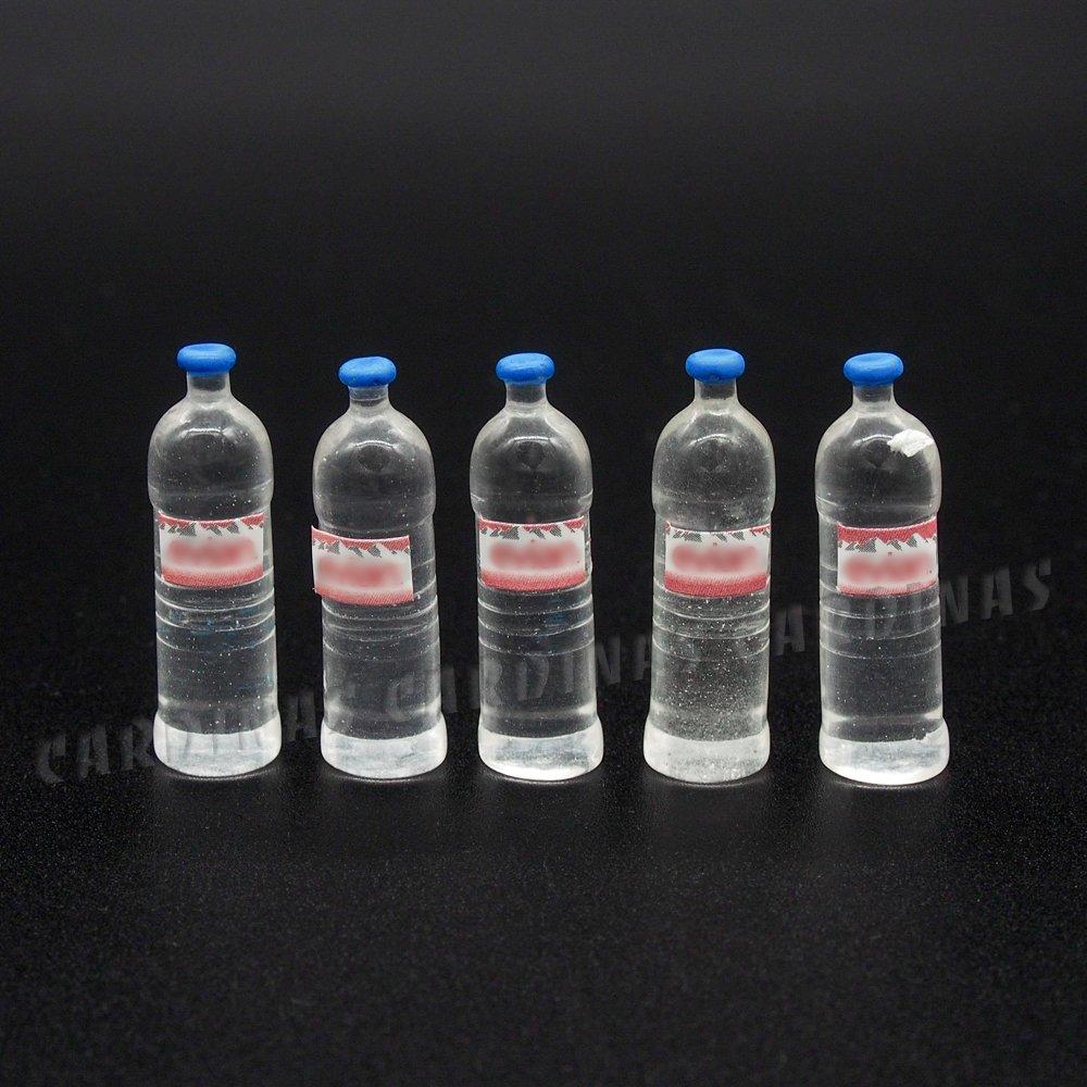 Odoria 1/12 Miniatura 5PZ Botella de Agua Bebidas Cocina Accesorio para Casa de Muñecas Cardinas