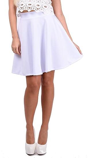 jowiha - Falda - para Mujer Blanco Talla única: Amazon.es: Ropa y ...