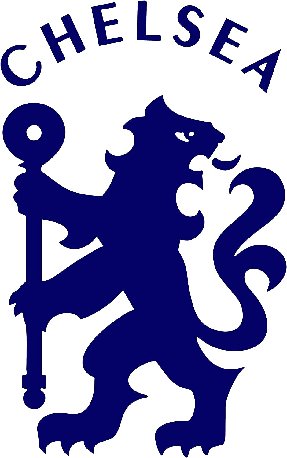 Chelsea Football Club Lion Decal Sticker for Car Laptop Wall Blue 6""