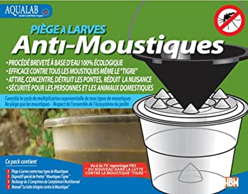 Hbm anti moustiques trappola per larve di zanzare aqualab: amazon.it