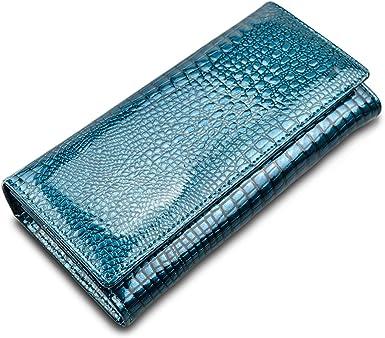 Leather Women Wallets Alligator Ladies Leather Wallet Women Purse Long Female Clutch Purses