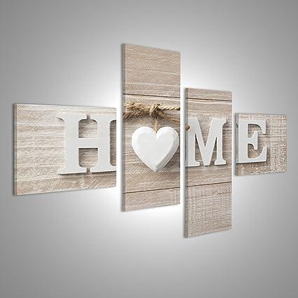 Quadro moderno Home home Benvenuti Stampa su tela - Quadro x ...