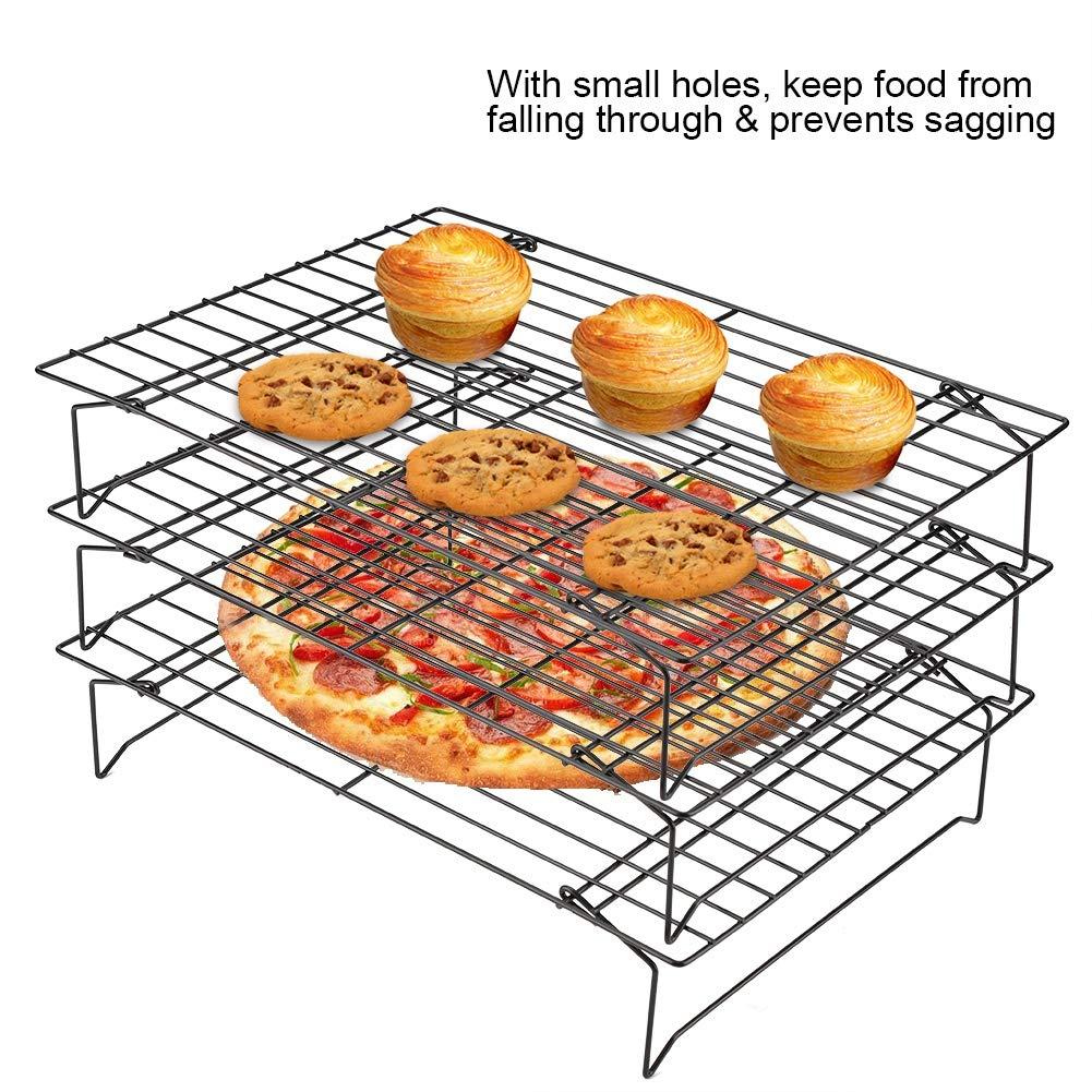 les G/âteaux 3 Etages Grille Acier Inoxydable de Refroidissement pour les Biscuits etc le Pain