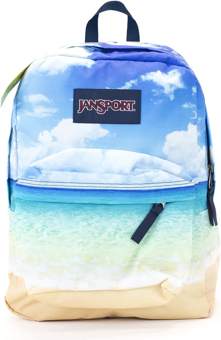 Jansport Superbreak Backpack multi tropical island
