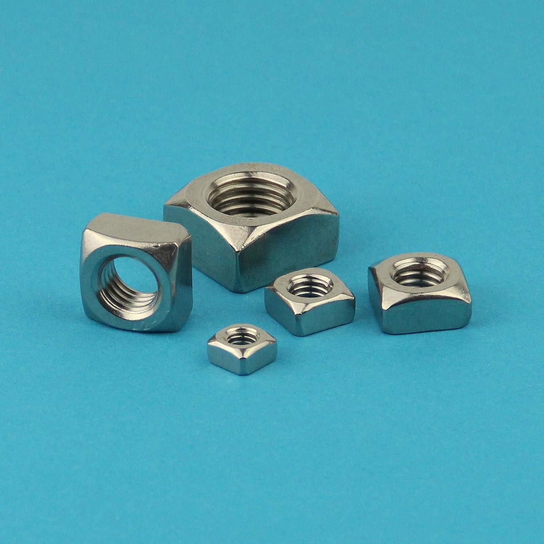 - standard Vierkant-Mutter DIN 557 Edelstahl A2 V2A Eisenwaren2000 M12 Vierkantmuttern 20 St/ück rostfrei