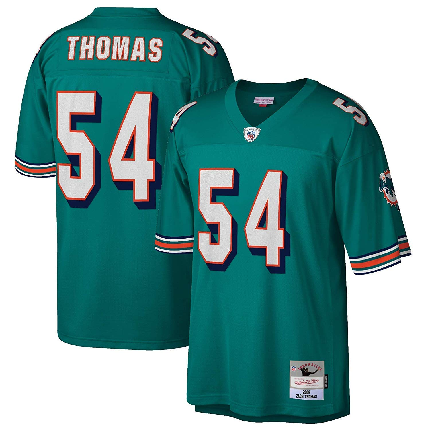 Cheap Miami Dolphins Zach Thomas 2006 Legacy Throwback Jersey Aqua  free shipping