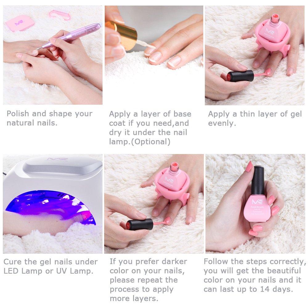 Amazon.com : MelodySusie Durable Gel Nail Polish - Sweet Reverie 1 ...
