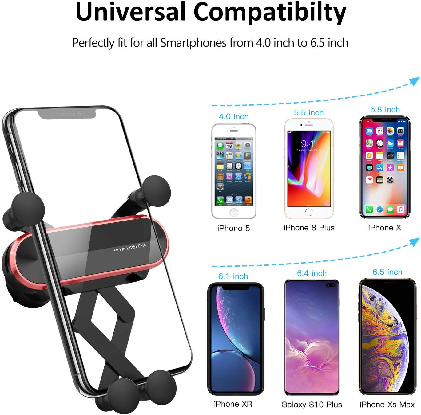 Google ICHECKEY Car Phone Mount Samsung Gravity Car Mount LG and More Automatic Locking Universal Air Vent GPS Cell Phone Holder for Car Compatible with iPhone 11 Pro//Pro Max//11//XR//X//8//7//6s//5s