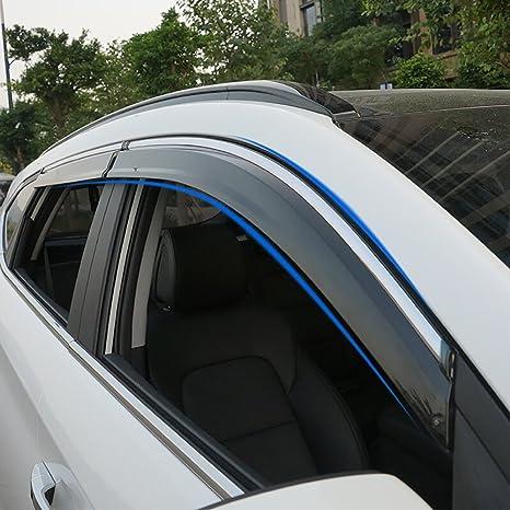 Deflectores de viento BeHave para ventanas de coche, protectores de lluvia; paquete de 4
