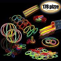 Braccialetti Luminosi Fluorescenti Starlight Disco per Feste 100 pezzi Una varietà di colori diversi