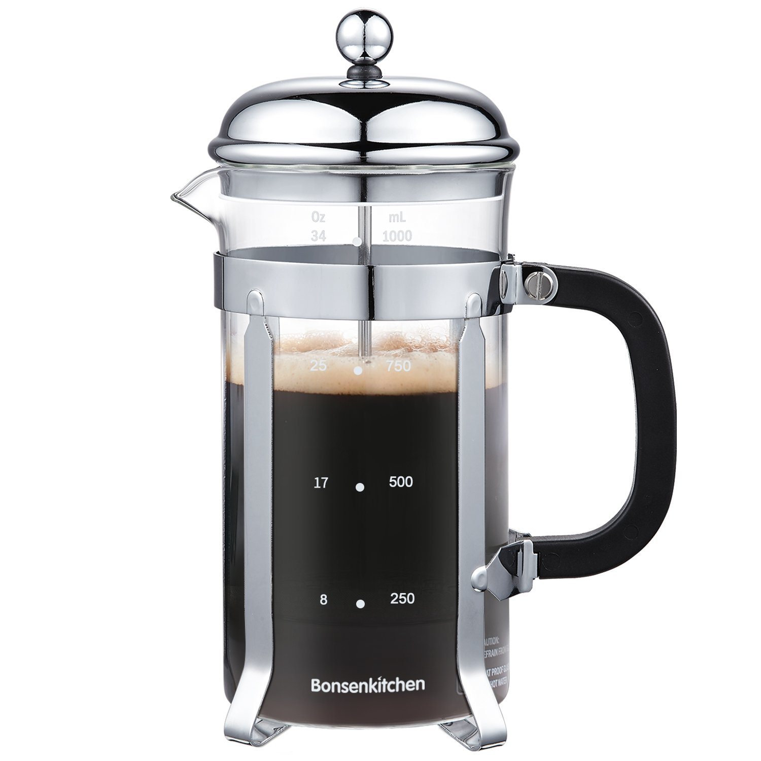 71tdwTzfe4L. SL1500  Bodum Glass Amp Stainless Steel Oz French Press Coffee Maker