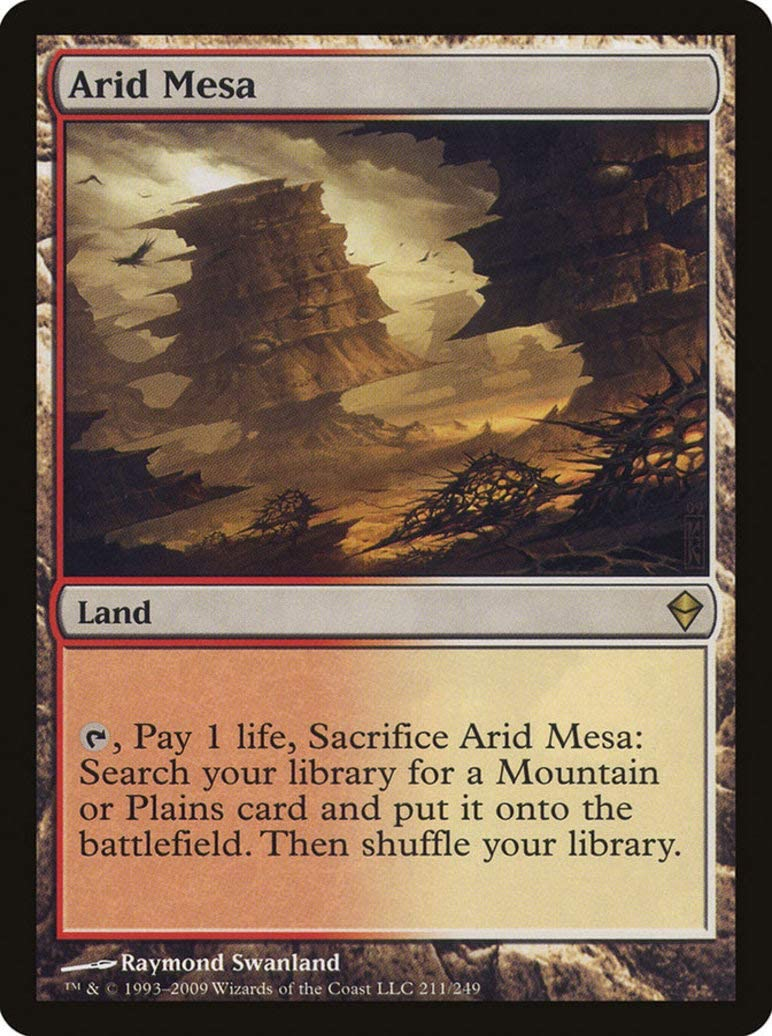 Magic: the Gathering - Arid Mesa (211) - Zendikar by Magic: the Gathering: Amazon.es: Juguetes y juegos