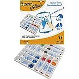 BIC Velleda 1721 Whiteboard Marker Fine Bullet Nib - Assorted Colours, Classpack of 72 Whiteboard Markers Set School…