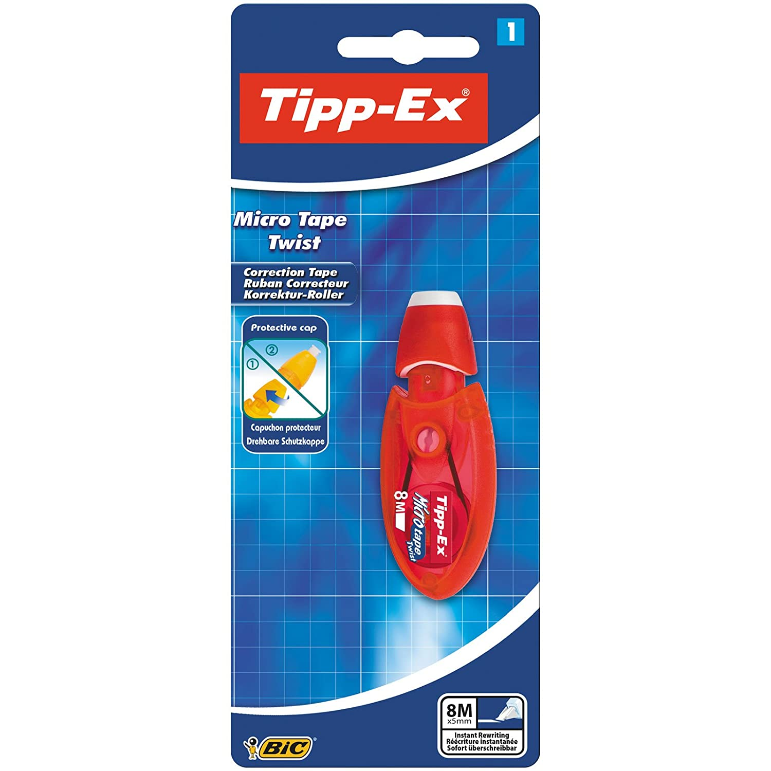 Tipp-Ex Micro Tape Twist Correction Tape Pink or Blue Case Pack of 1