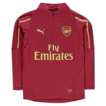 000ba9cfc76 PUMA 2018-2019 Arsenal Half Zip Training Top (Red) - Kids