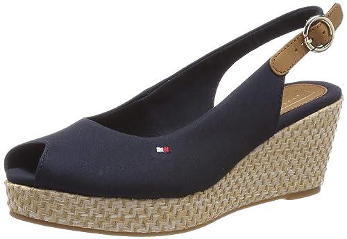 Tommy Hilfiger Iconic Elba Basic Sling Back, Sandalias de Talón Abierto para Mujer: Amazon.es: Zapatos y complementos