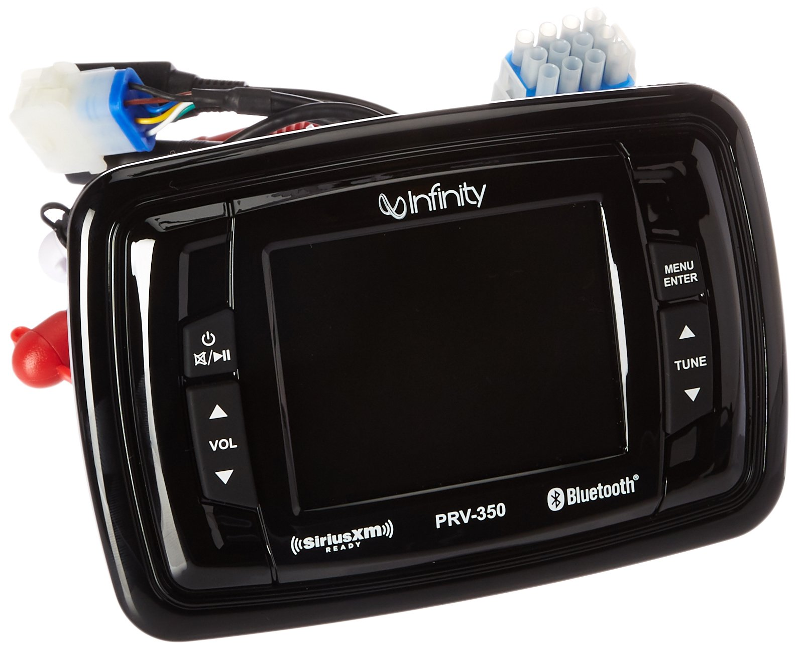 Infinity PRV350 Marine 3.5'' TFT Display Bluetooth SiriusXM-Ready Stereo Receiver by EnrockMarineBundle