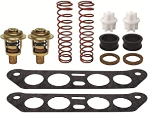GLM Thermostat Kit for Johnson & Evinrude V4 Crossflow 85 88 90 100 110 112 115 140 hp Replaces 434841, 18-3673 Read Item Description for Applications