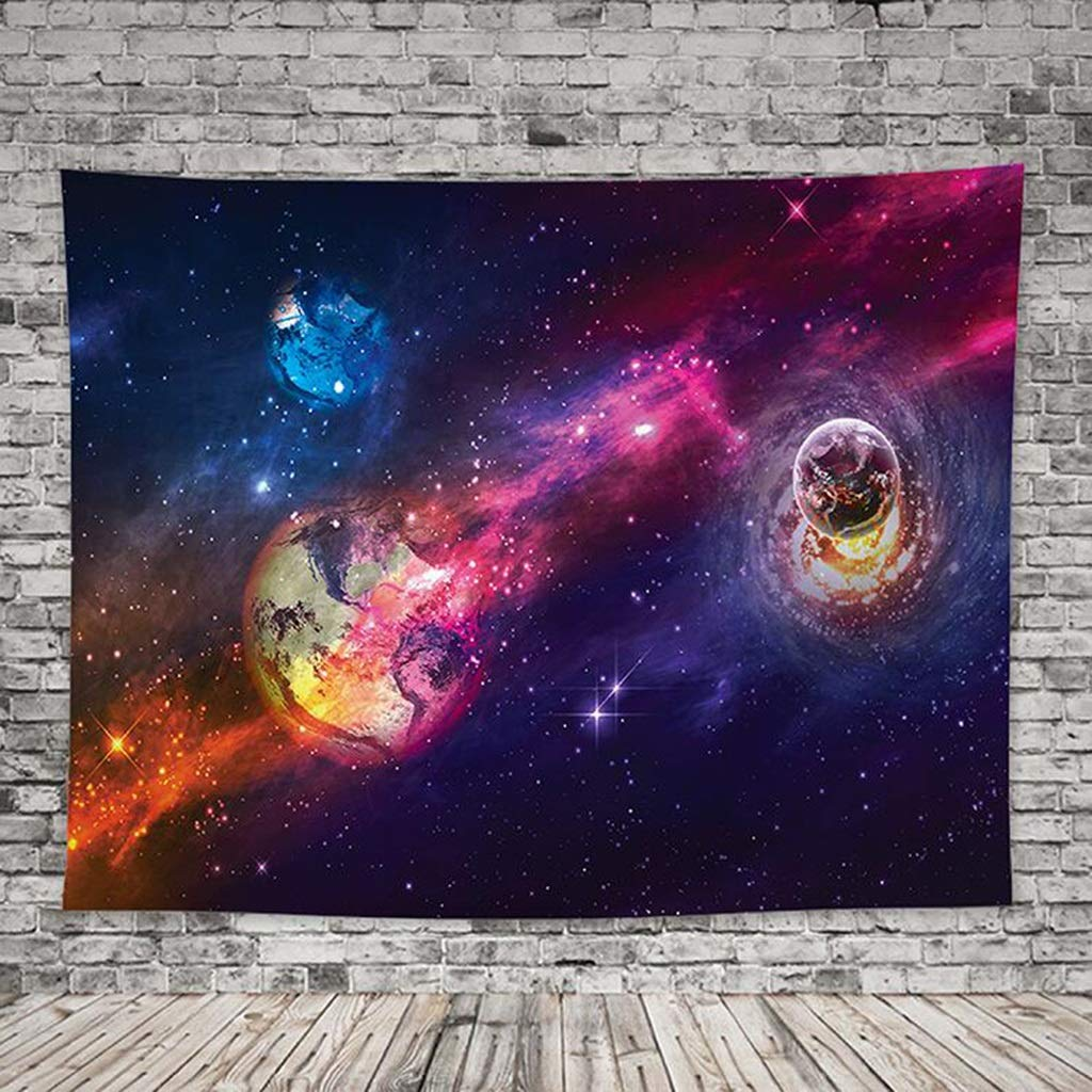 HappyL Psychedelic Tapestry Home Decor Wall Tapestry Living Room Bedroom Dormitory Starry Tapestry Tapestry (Color : D, Size : 200CM×148CM) by HappyL
