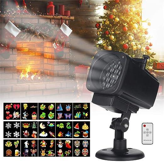 Luces LED para proyectores de Navidad, 12 patrones en movimiento ...