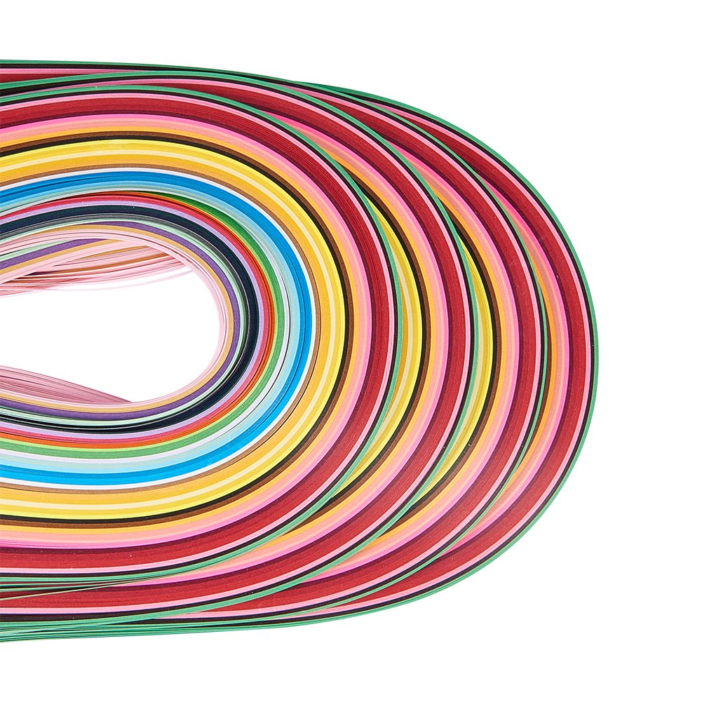 Pandahall Elite Quilling Paper Strips Quilling Art Strips 1440 Strips 36 Colors Quilling Paper Set 3 mm Width 52 cm Length