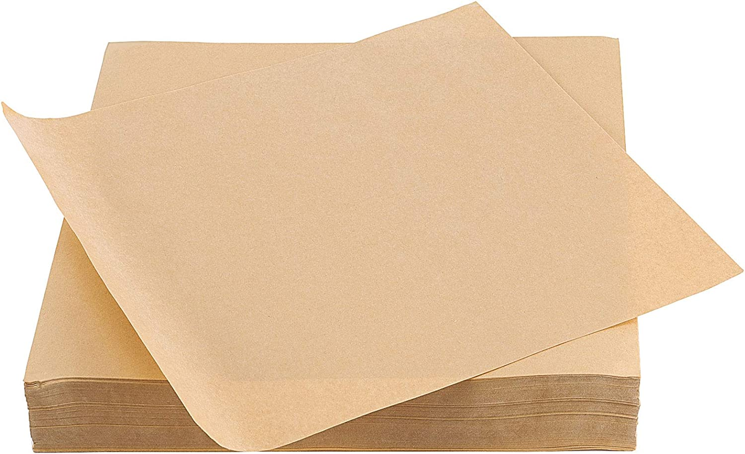 ZEONHEI 500 PCS 11.4 Inch Squares Wax Butcher Paper, Food Grade Deli Paper Sheets, Grease Resistant Wrapper with Single Side Film Covering, Sandwich Wrapping Paper for Pastries Cookies