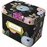 Recipe Box by Polite Society (Black Tin)