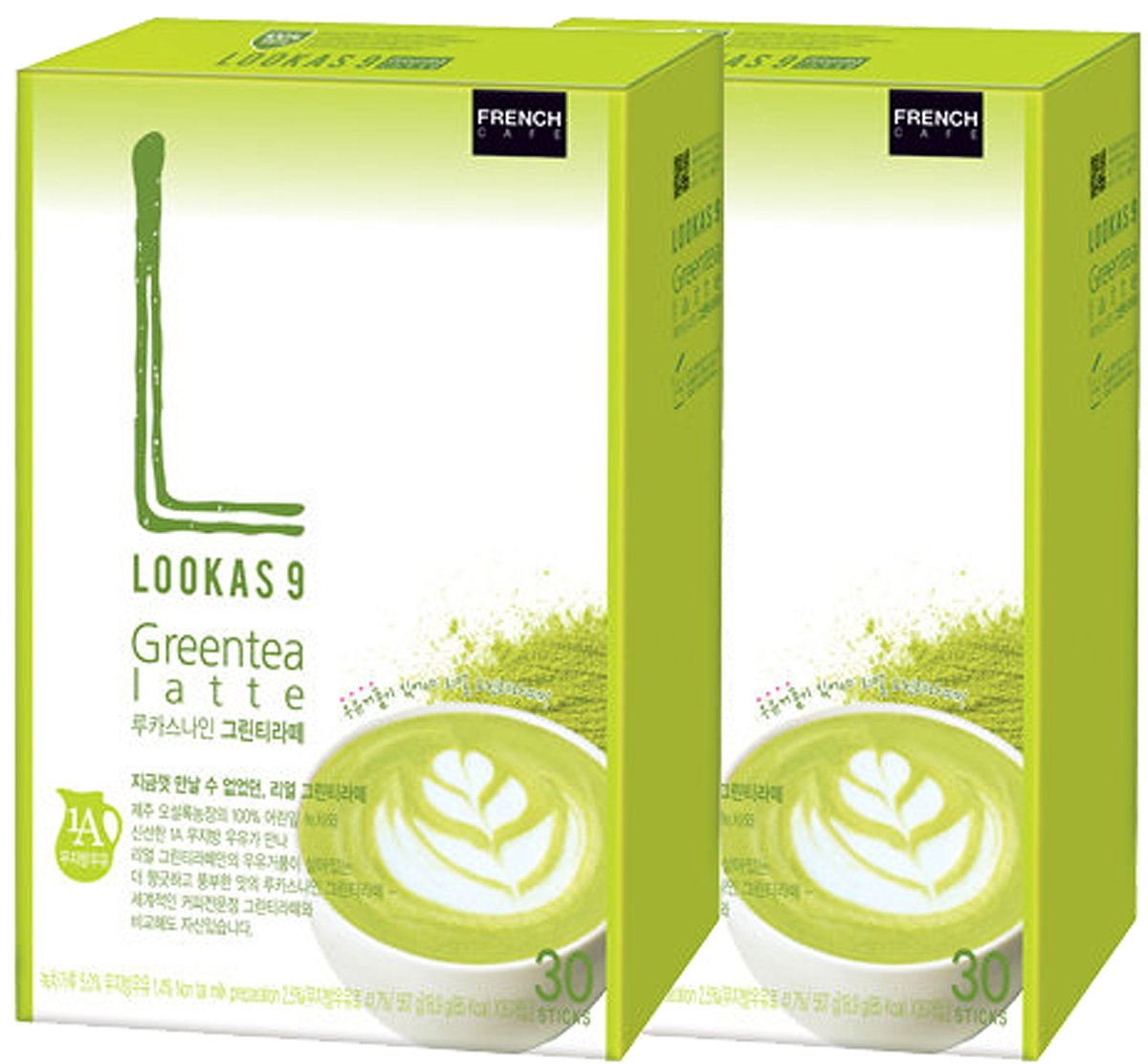 LOOKAS 9 Nine Green Tea Latte 60T Coffee Mix Korea Namyang French Cafe by Namyang