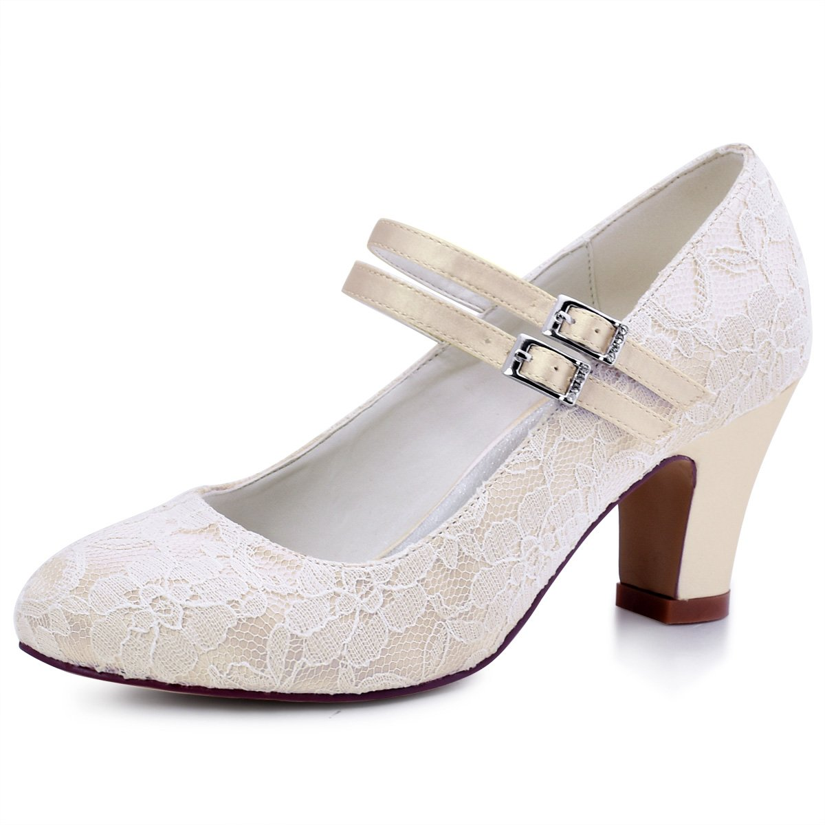 77ce9f210f37 Classic lace mary jane heels pumps wedding Shoes for bride. Perfect bridal  shoes work fine for your wedding. Delicate and comfortable high heels ...