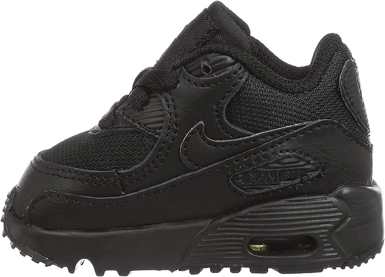 Amazon Com Nike Air Max 90 Mesh Toddler Boys Shoe Sail Black