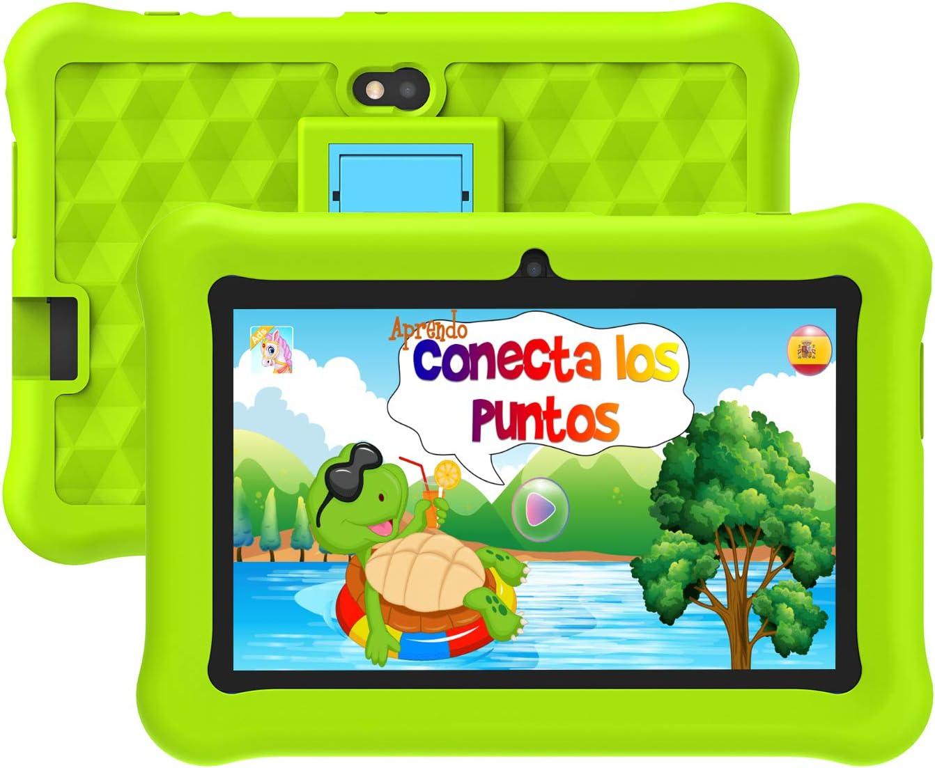 Tablet para Niños con WiFi 7 Pulgadas Android 10 Certificación Google Tableta Infantil 2GB RAM + 32GB ROM y Juegos Educativos.