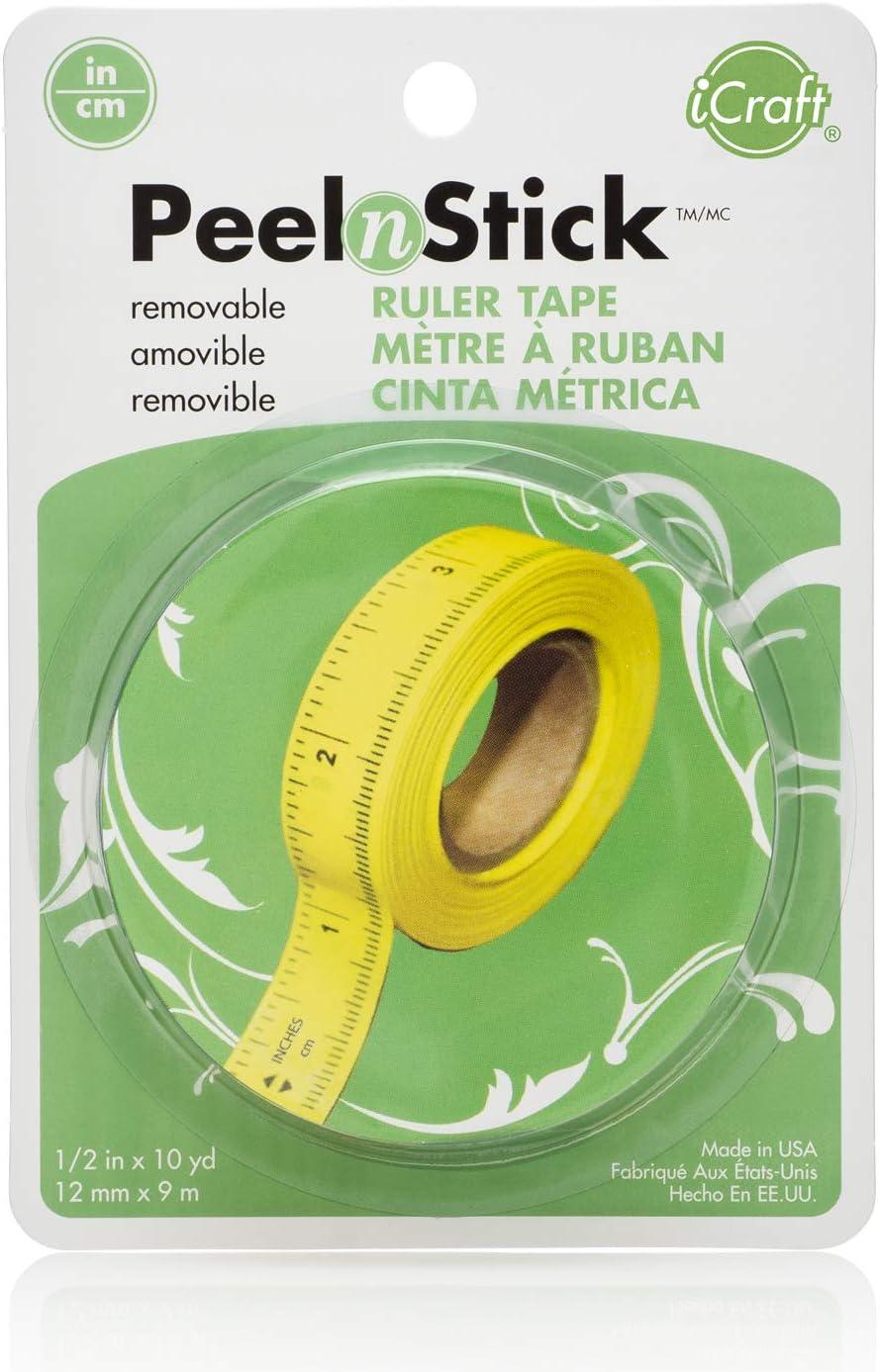 "Peel /'N Stick Ruler Tape 1//2/"" x 10 Yards"