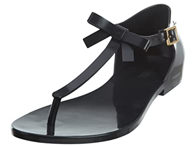 8094f0c43 Melissa Womens Honey Thong Sandal Black Size 8