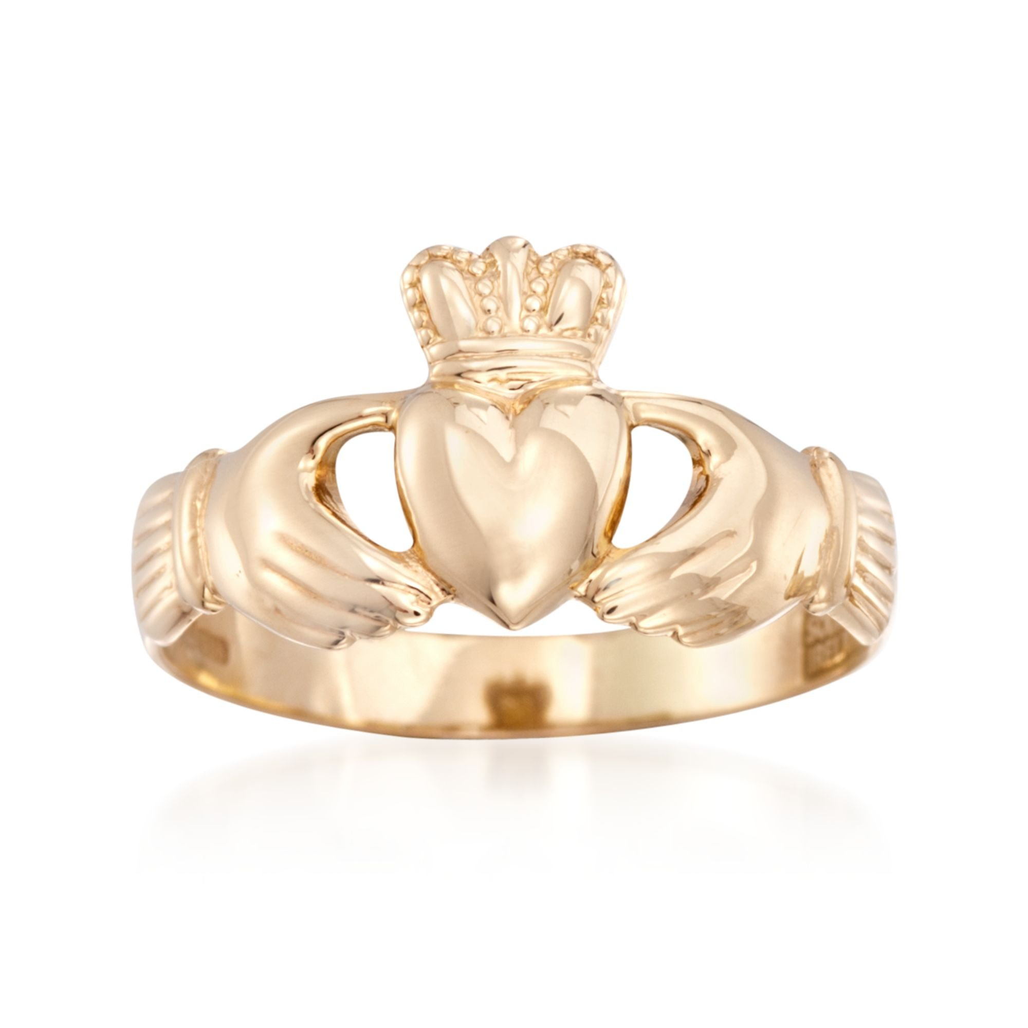Ross-Simons 14kt Yellow Gold Claddagh Heart Ring