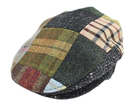 e9a5bc8b Irish Hats for Men John Hanly Men's Flat Irish Hat Patchwork 100% Wool Made  in