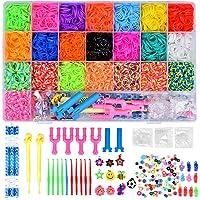 MISHAER 4400pcs Caja Pulseras Gomas, Loom Bands Bandas de Silicona para Hacer Pulseras De Colores Loom Kit para Pulseras…