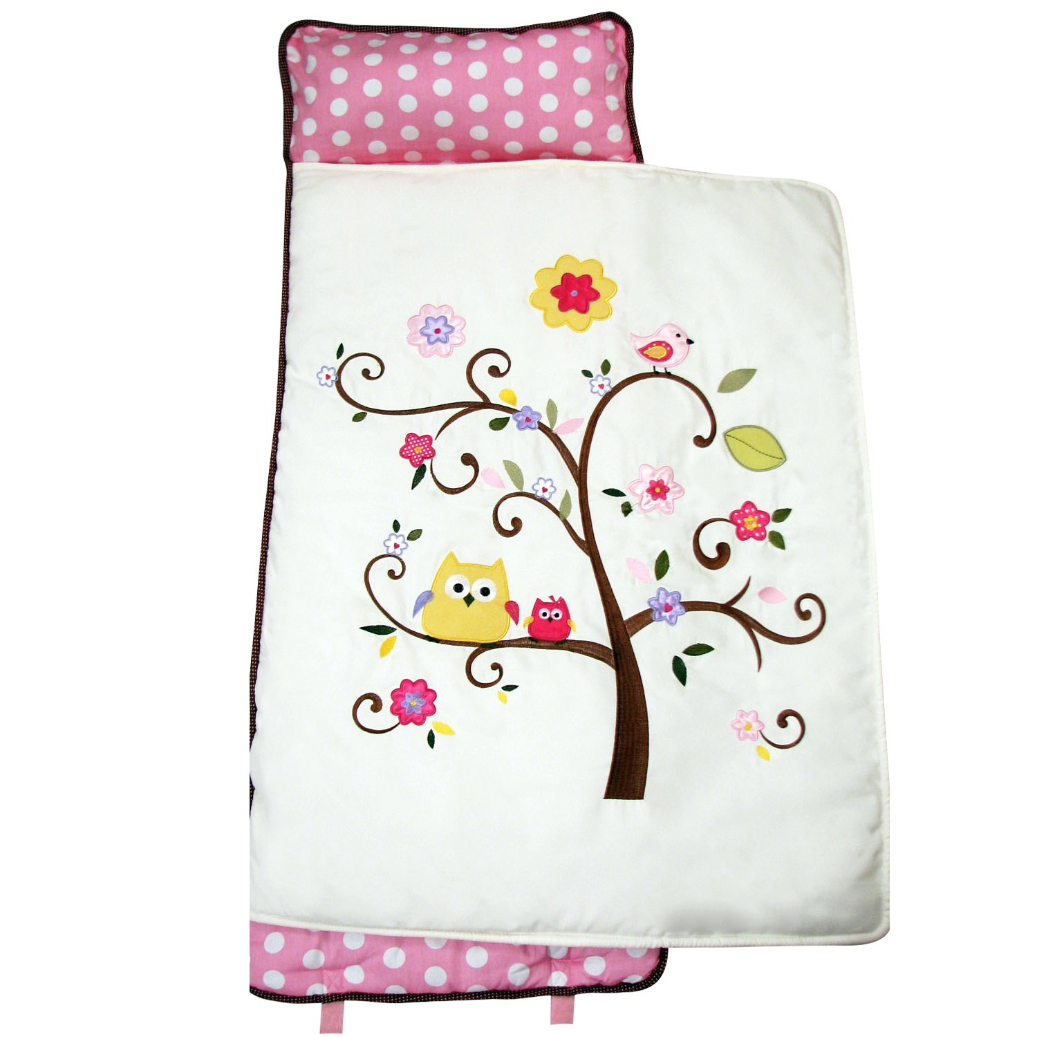 SoHo Nap Mat , Pink Cherry Blossom (All Hand Embroidery)