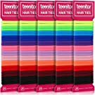 Teenitor 125pcs Cotton hair bands, Durable Seamless Ponytail Holders for Baby Kids Toddlers Girls, Small Elastic Hair Ties 1.25-inch, 12 Colors