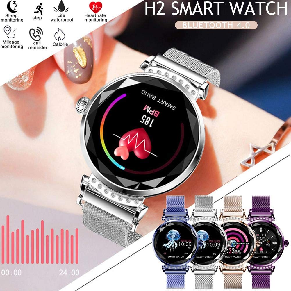 Hifuture Smart Watch Mujer, 3D Diamond Glass Fitness Tracker con ...
