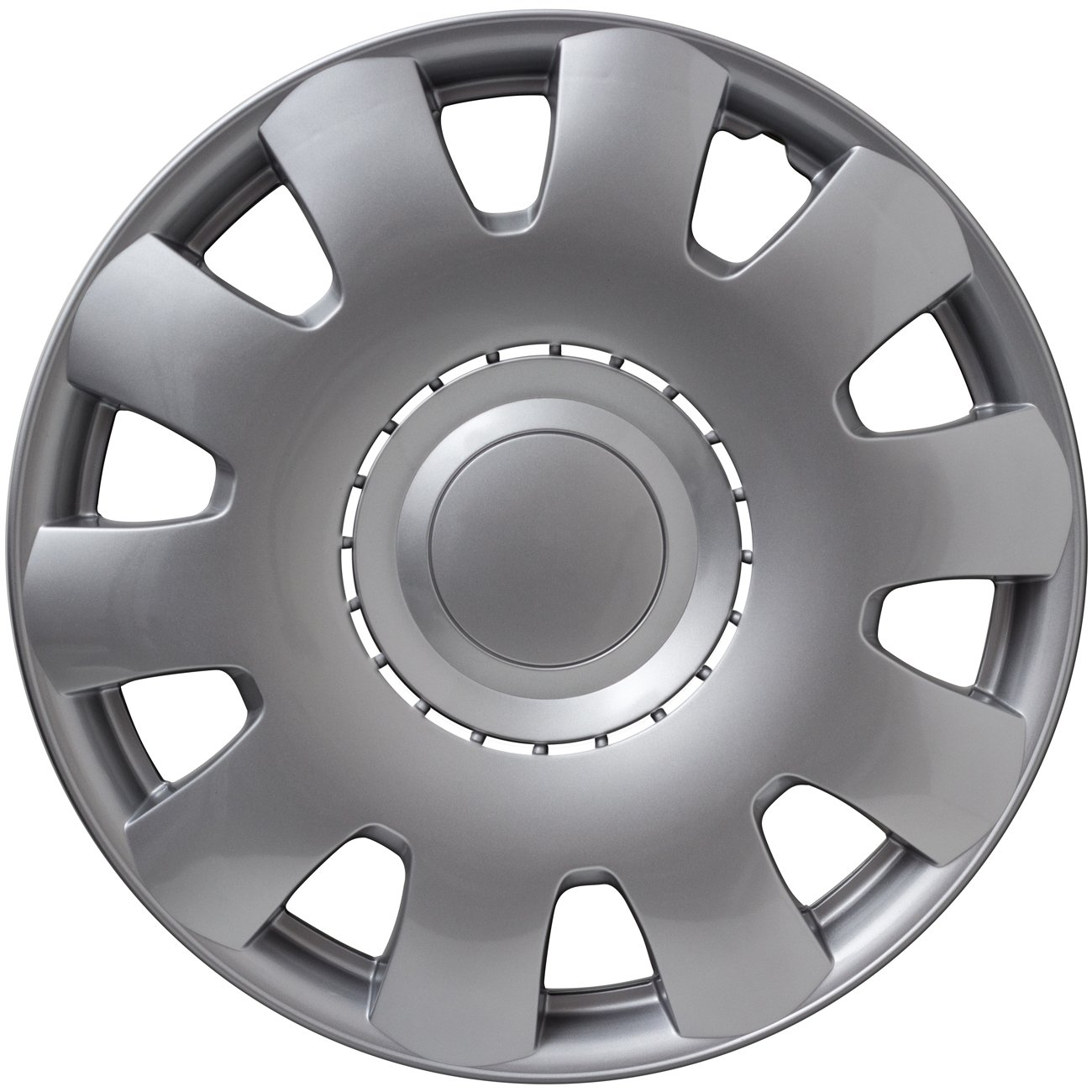 15 inch Hubcaps Best for 2004-2006 Toyota Camry - (Set of 4) Wheel Covers 15in Hub Caps Silver Rim Cover - Car Accessories for 15 inch Wheels - Snap On ...