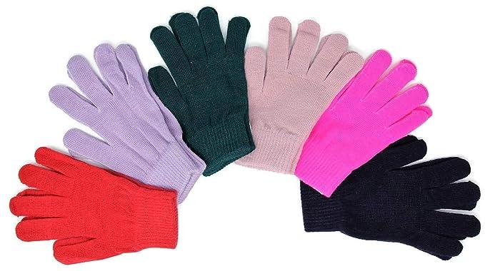 d11cb3817d1 High Desert Gear Adults Teenagers Winter Magic Knit Gloves 12 Pair (Assorted  1)