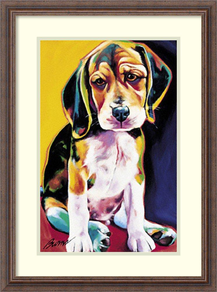 アートフレーム印刷' Otis ' by Ron Burns Size: 20 x 27 (Approx), Matted ホワイト 1593801 Size: 20 x 27 (Approx), Matted Distressed Rustic Brown,mat:white B0134MZYB0