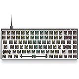 Galaxy 75 Modular Mechanical Gaming Keyboard - 75% Layout - USB Type C - Full Aluminium Chassis by HK Gaming (Barebone, Black